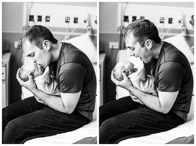 Jared and newborn Abel.