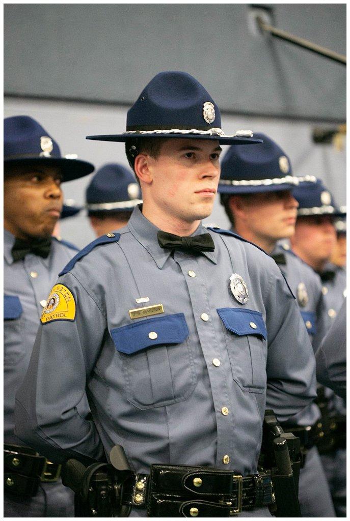 Washington State Patrol Graduation. State Trooper Cadets.