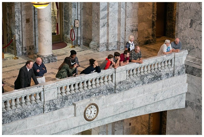 Family at the capitol building in Olympia.