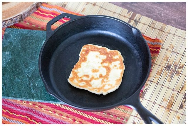 Cook naan bread 2-3 minutes on each side.