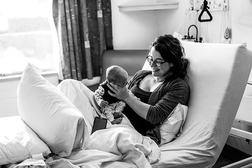 Adalia and Monty in the hospital.