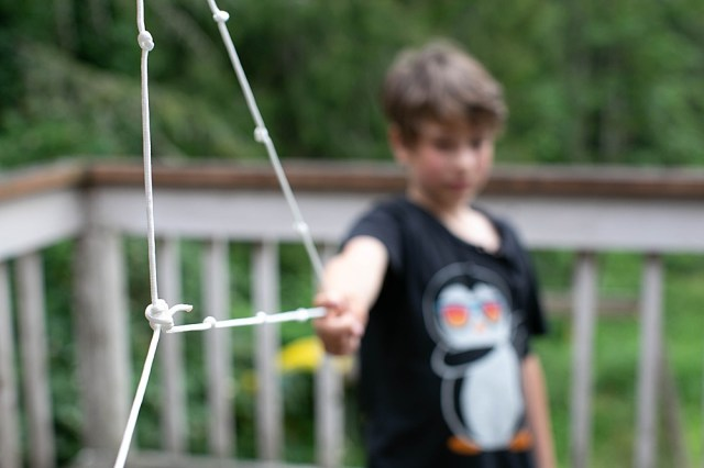 Using a simple rope with twelve knots is a great way to prove the Pythagrean Theorem.