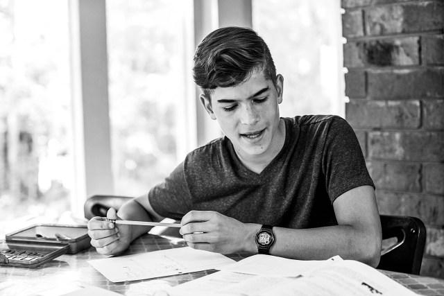 Tucker homeschooling 2019-20. Homeschooling upper grades means pursing interests and exploring the world.