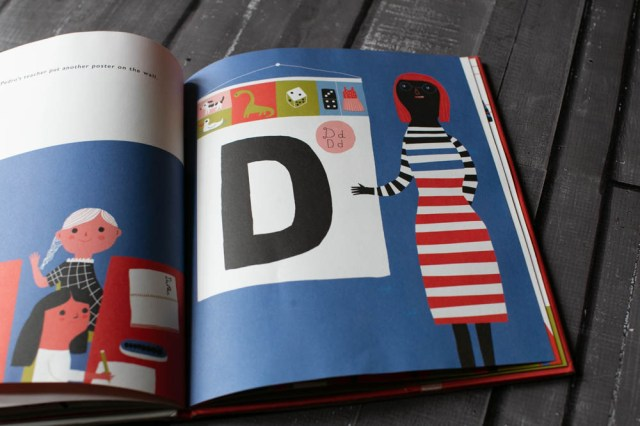 Lines, Squiggles, Letters, Words is a fun book with bright illustrations.