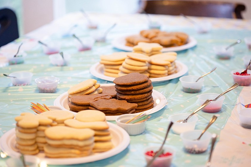 Bake the cookies far in advance if you are hosting a cookie decorating party.