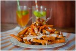 These air fryer sweet potato fries are crispy on the outside and easy to make!