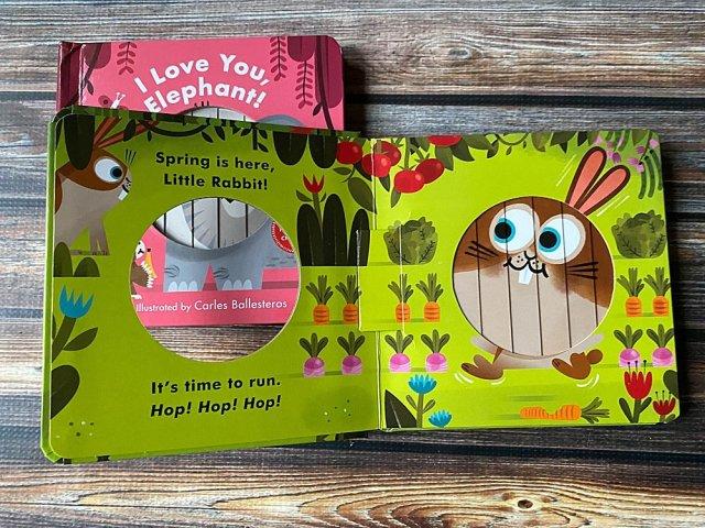 Your child will love the changing faces in Spring is Here.