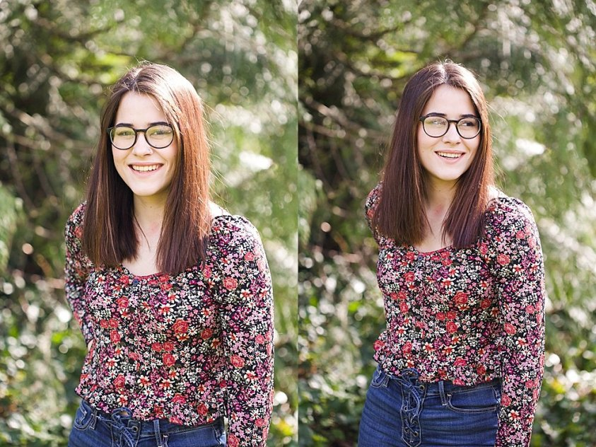 Jubilee, 17, smiling.