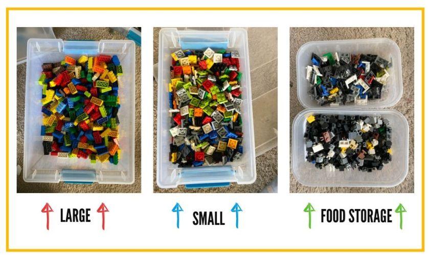 How I sort LEGO bricks.