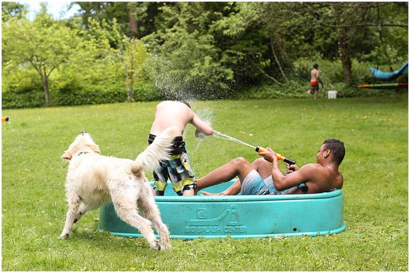 Summer water fights make social distancing birthday parties fun.