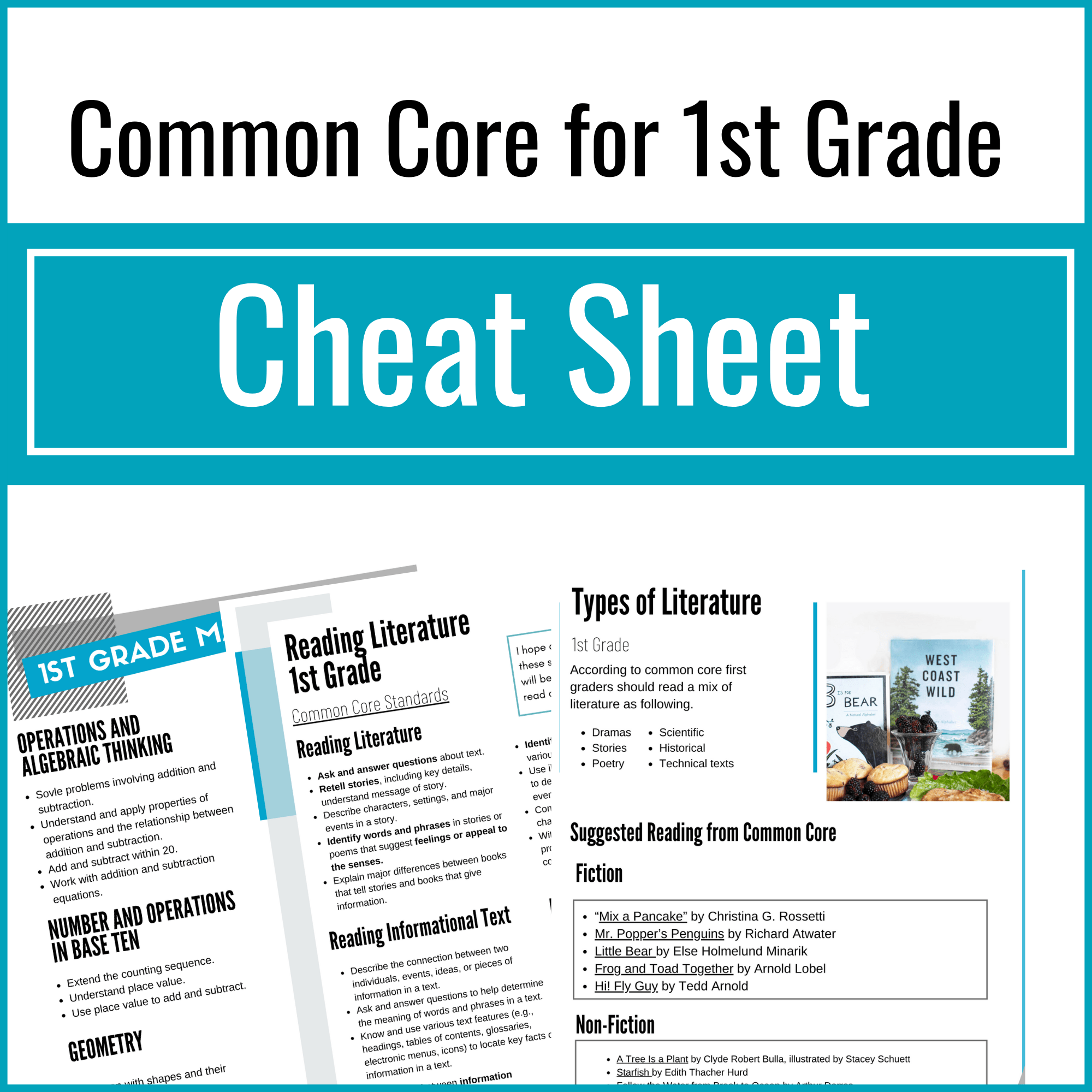 Check out my Common Core checklists for parents!