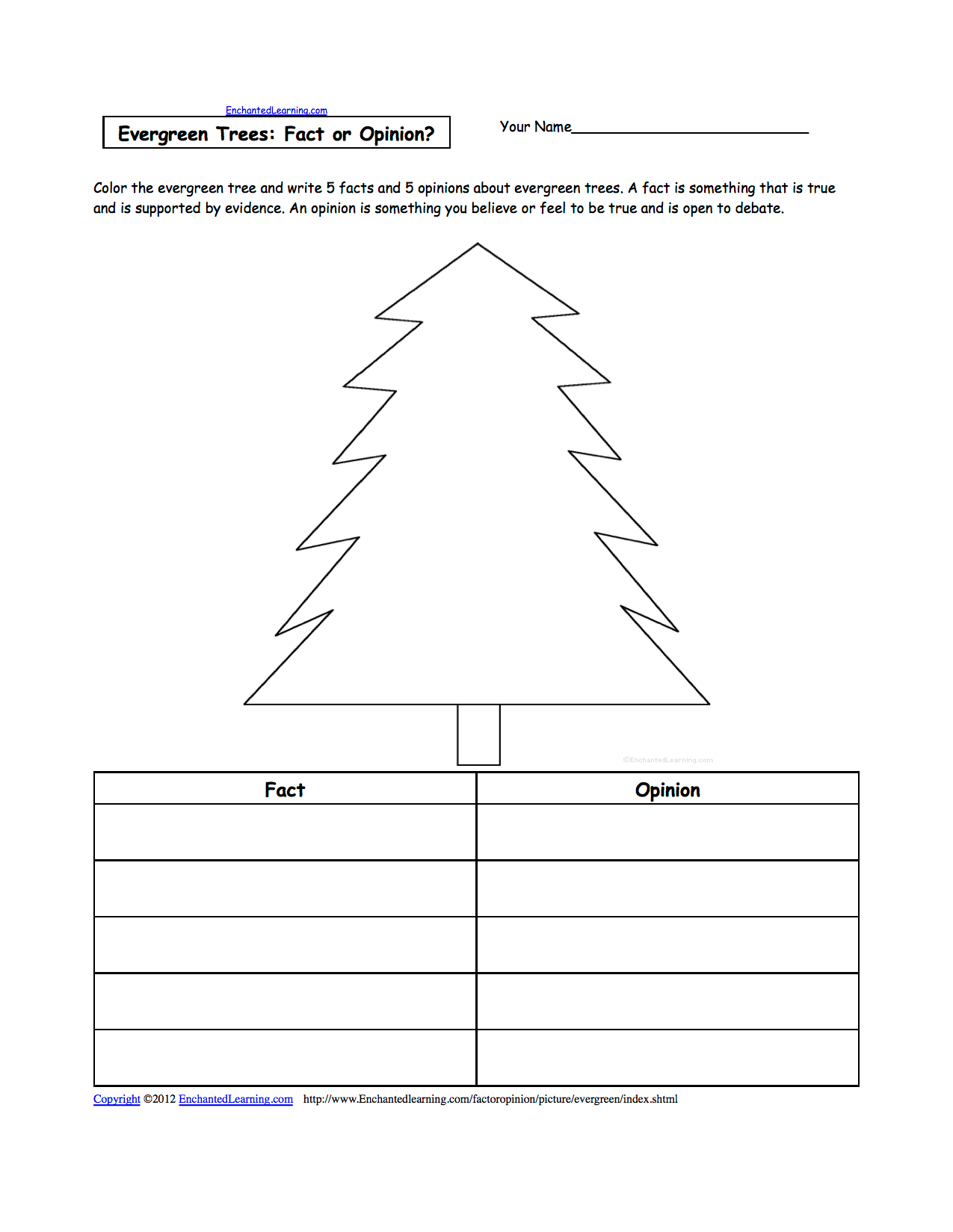 Picture Fact Or Opinion Worksheets To Print