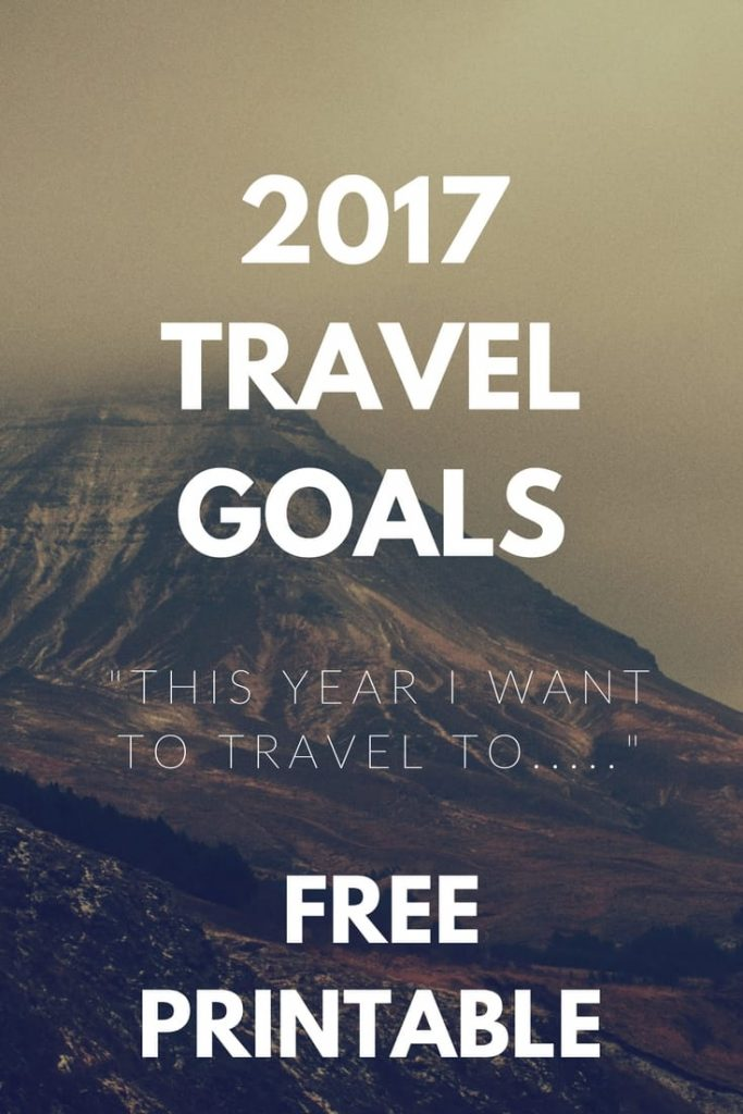 Finish This Sentence - Travel Goals 2017