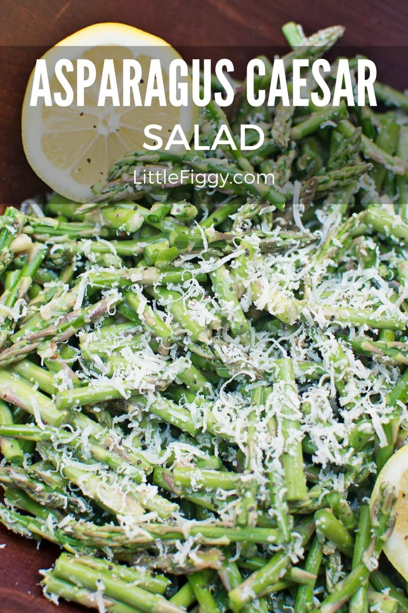 Super Easy Asparagus Caesar Salad from @LittleFiggyFood - #Salad #Asparagus #HealthyFood