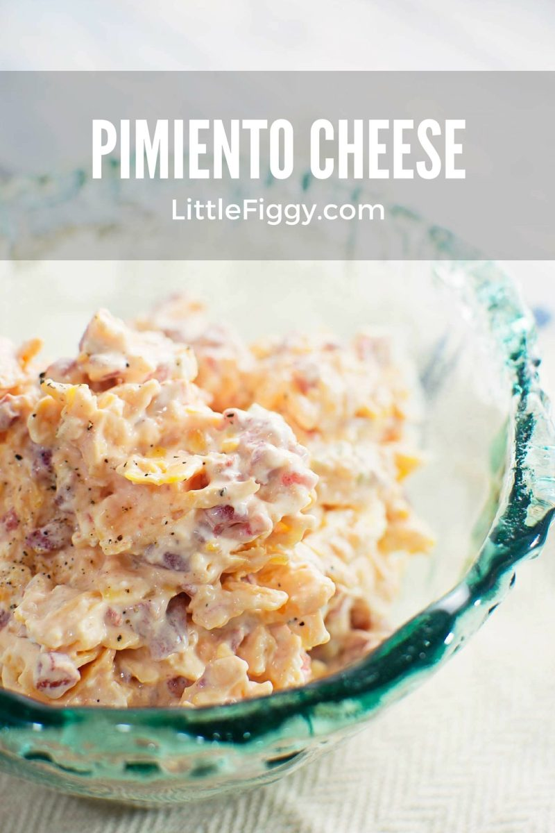 Try this quick & tasty Feisty Pimiento Cheese! Completely creamy, make it as spicy or mild as you like and enjoy it on crackers, sandwiches, grilled cheese sandwiches or hamburgers. Recipe by @LittleFiggyFood