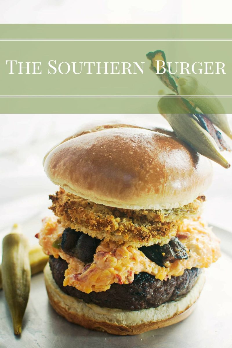 "Need a little tasty treat to get ""all y'all"" BBQ satisfied? Try The Southern Burger special, a little this, a bit of that & just a smidgen of this and you're all set. #Recipe @LittleFiggyFood"