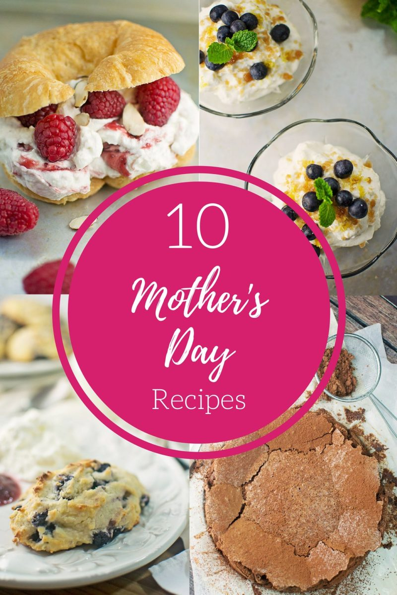 10 wonderfully sweet Mother's Day Recipes found @LittleFiggyFood