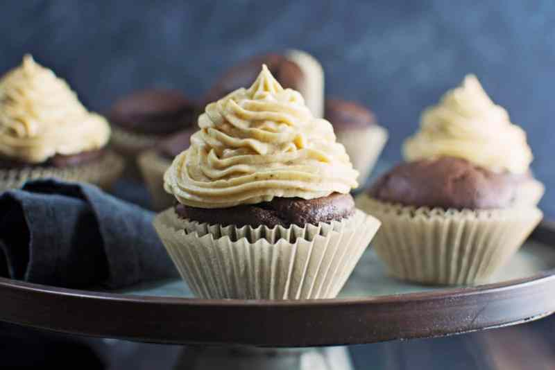 Decadent in every way, Chocolate Pumpkin Cupcakes! Recipe @LittleFiggyFood