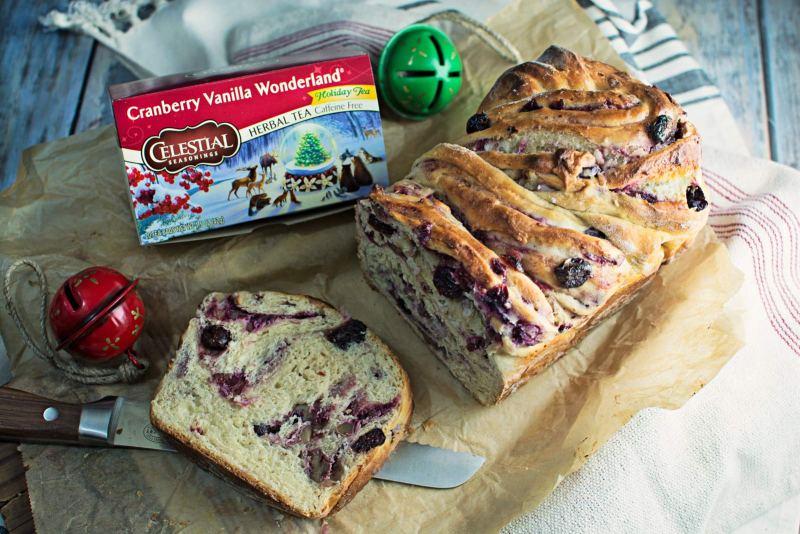 Unwrap the flavor of the season with this Cranberry Cream Cheese Babka! Get the recipe @LittleFiggyFood #celestialseasonings #themagicoftea #ad