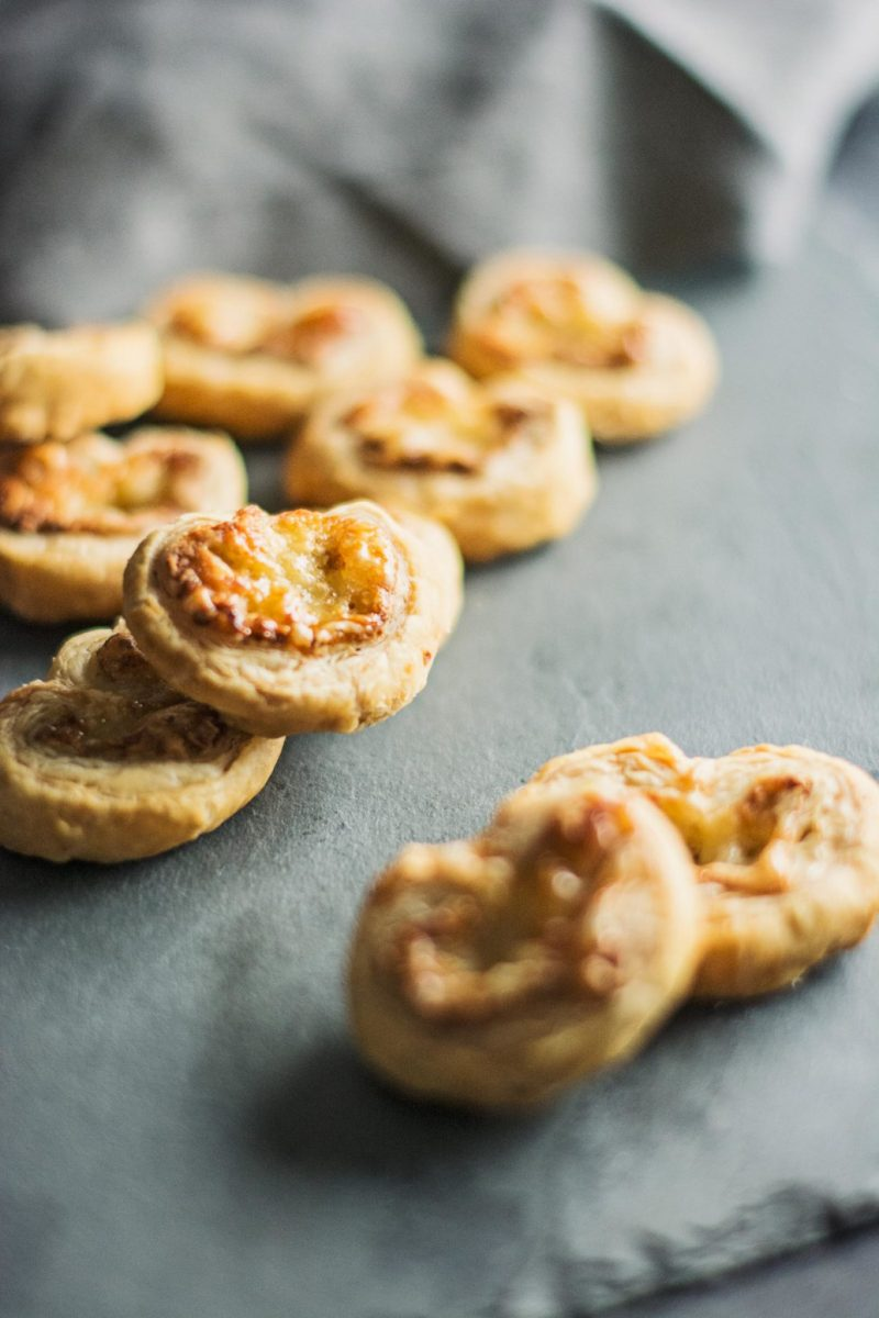 Crazy easy to make Savory Palmiers using only 3 ingredients! Recipe @LittleFiggyFood