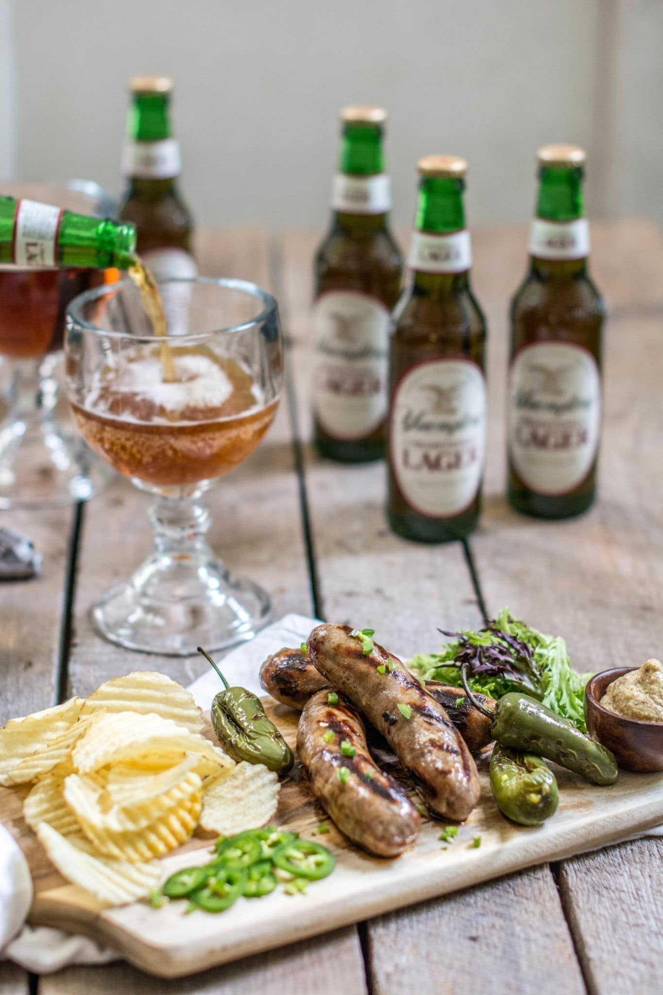 Beautifully grilled Smithfield® Yuengling® Bratwurst, the answer to your summertime BBQs. Read more at Little Figgy Food