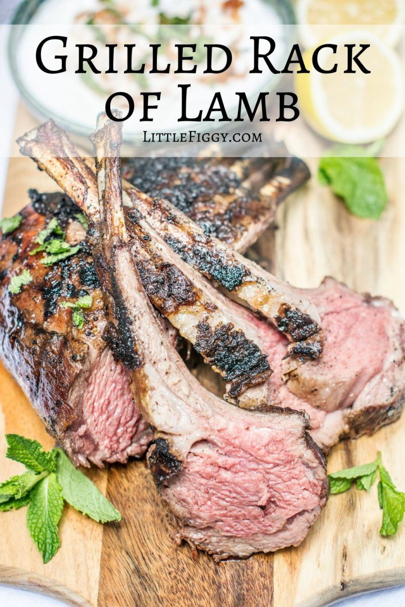 Aussie Grilled Rack of Lamb, so easy to make and amazingly tasty! #GreaterOutdoors It's #Aussome @aussiebeeflamb @biggreenegg #ad