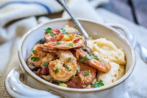 A gorgeous southern favorite, Shrimp and Grits. Get this recipe from Little Figgy Food and enjoy!