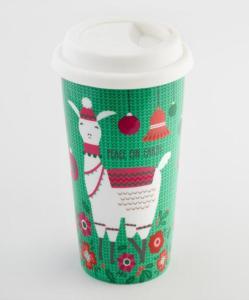 Green Merry Llama Not A Paper Cup