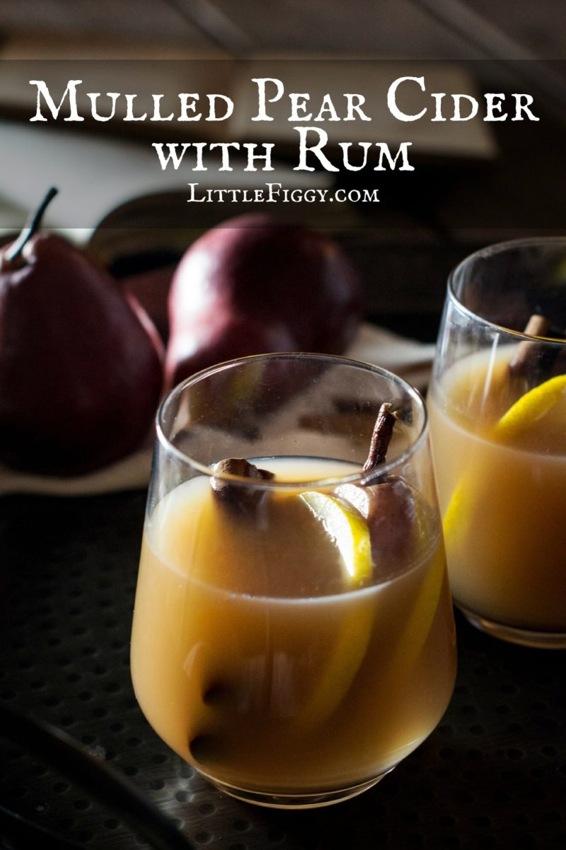 Mulled Pear Cider with Rum
