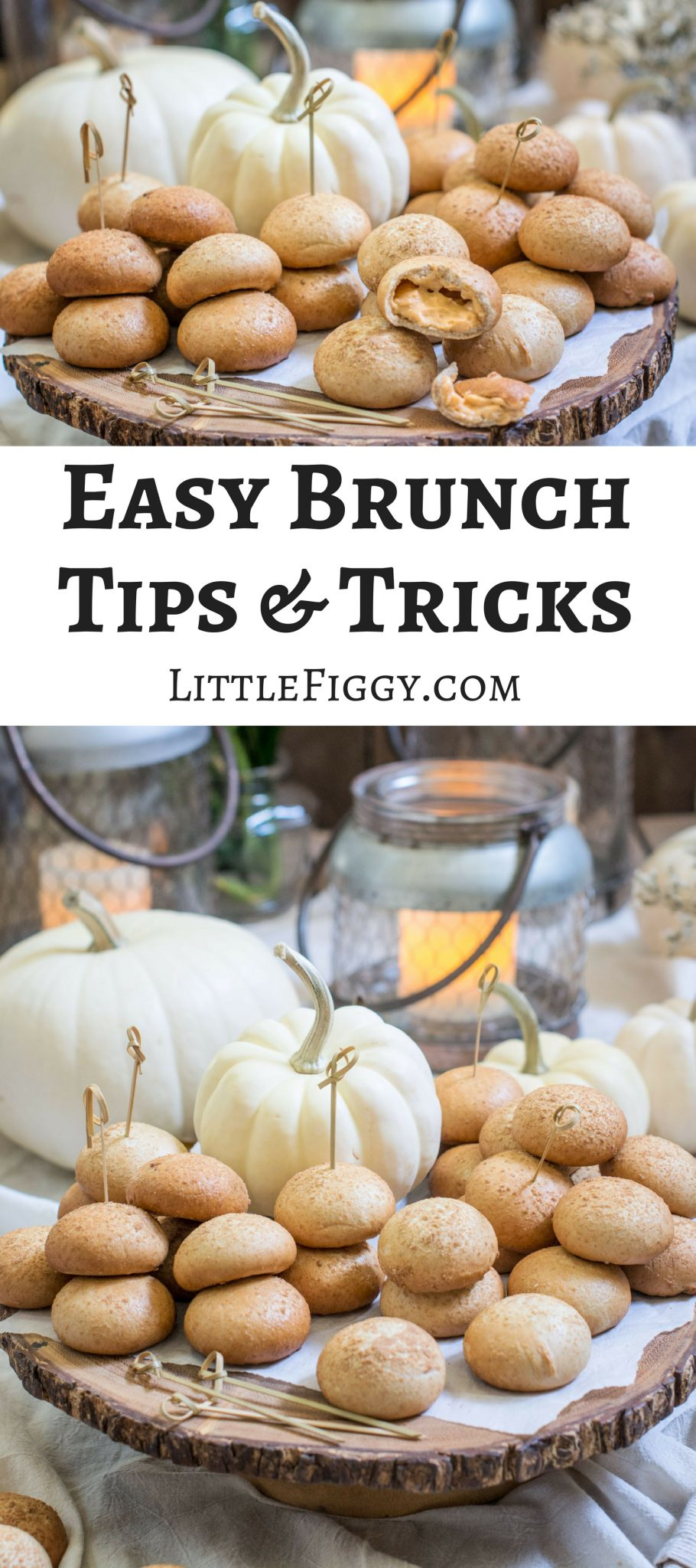 Easy Brunch Tips & Tricks with NANCY'S Petite Stuffed Bagels, the perfect addition for holiday entertaining! Learn more at Little Figgy Food. #ad #ViveLeBrunch