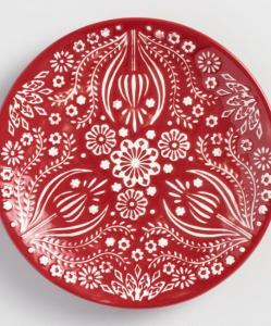 Red Jolly HEarts Plates