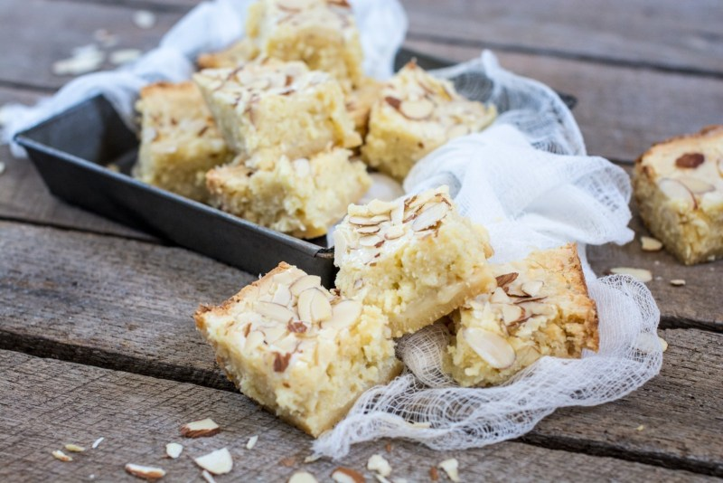 Enjoy this White Chocolate Blondies recipe, with a touch of coconut and lime to brighten things up! Get the recipe at Little Figgy Food. #ad #DriveToyota #LetsGoPlaces #Prius