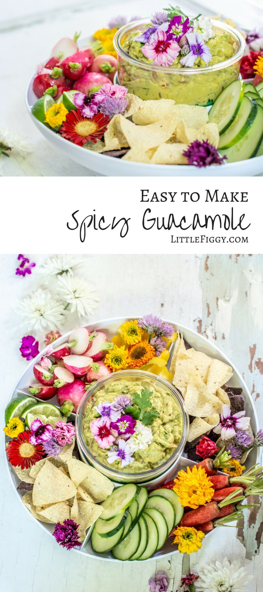 Easy to make and as spicy as you like, try this fresh-made spicy guacamole recipe! Get the recipe at Little Figgy Food and learn how I keep my guacamole fresh! #ad #guaclock #casabella @casabellapin