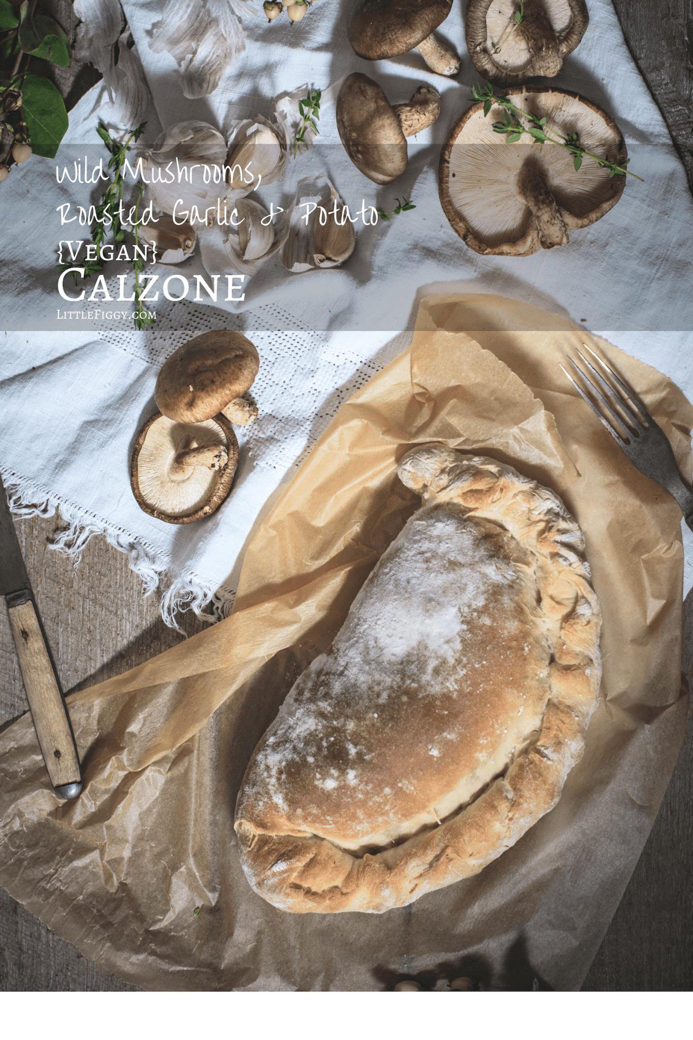 The perfect comfort food, vegan Garlic & Potato Calzone recipe! #ad @IdahoPotato #IdahoPotatoes #pizza #vegan #recipeoftheday #dinner