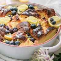 Brioche Bread Pudding with Lemon Curd