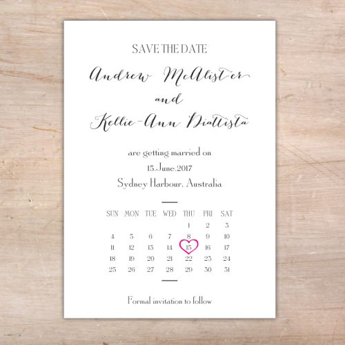 Save Date Cards Simple