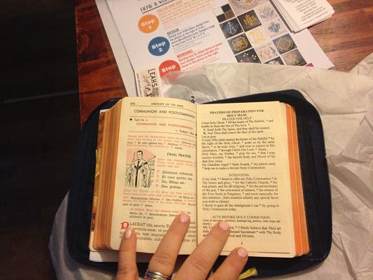Missal open