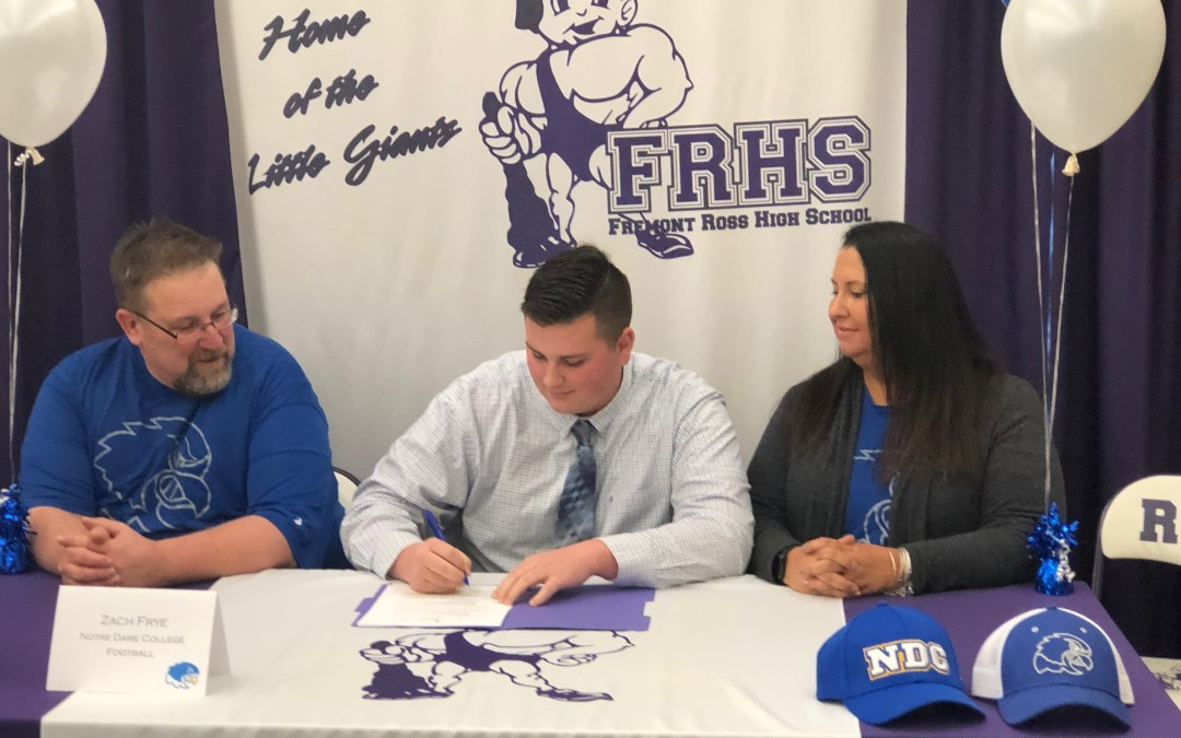 Zach Frye signs to play football at Division II Notre Dame College