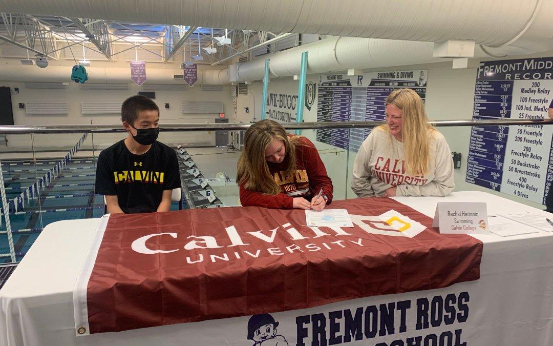 Haitonic signs on to swim at Calvin University