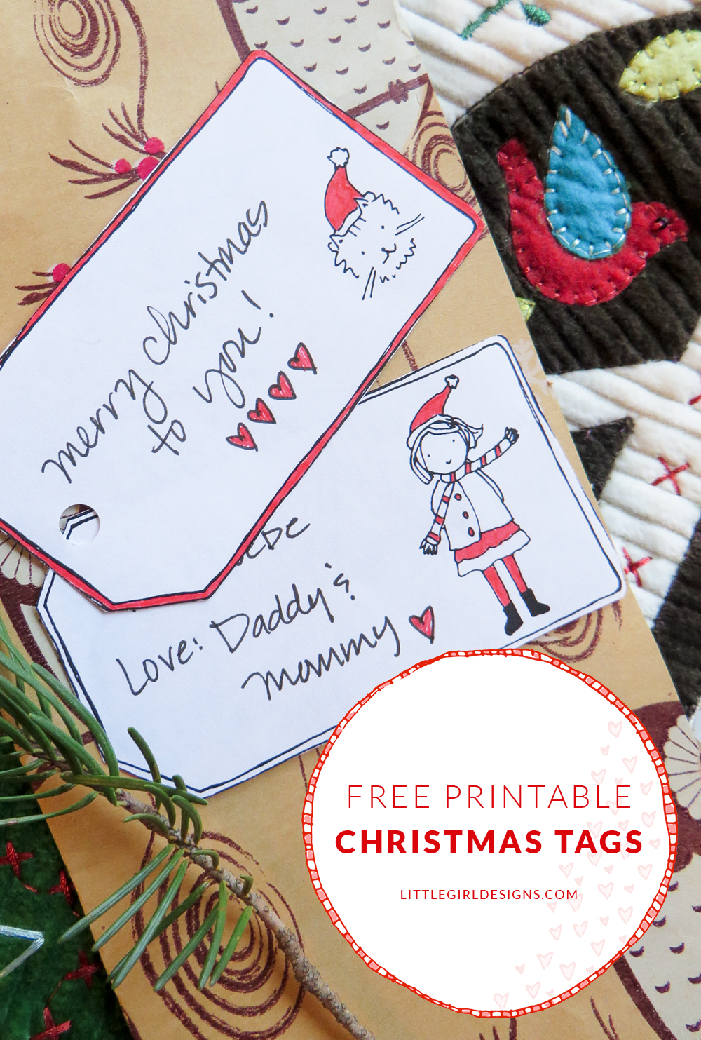 Free Printable Christmas Gift Tags Jennie Moraitis
