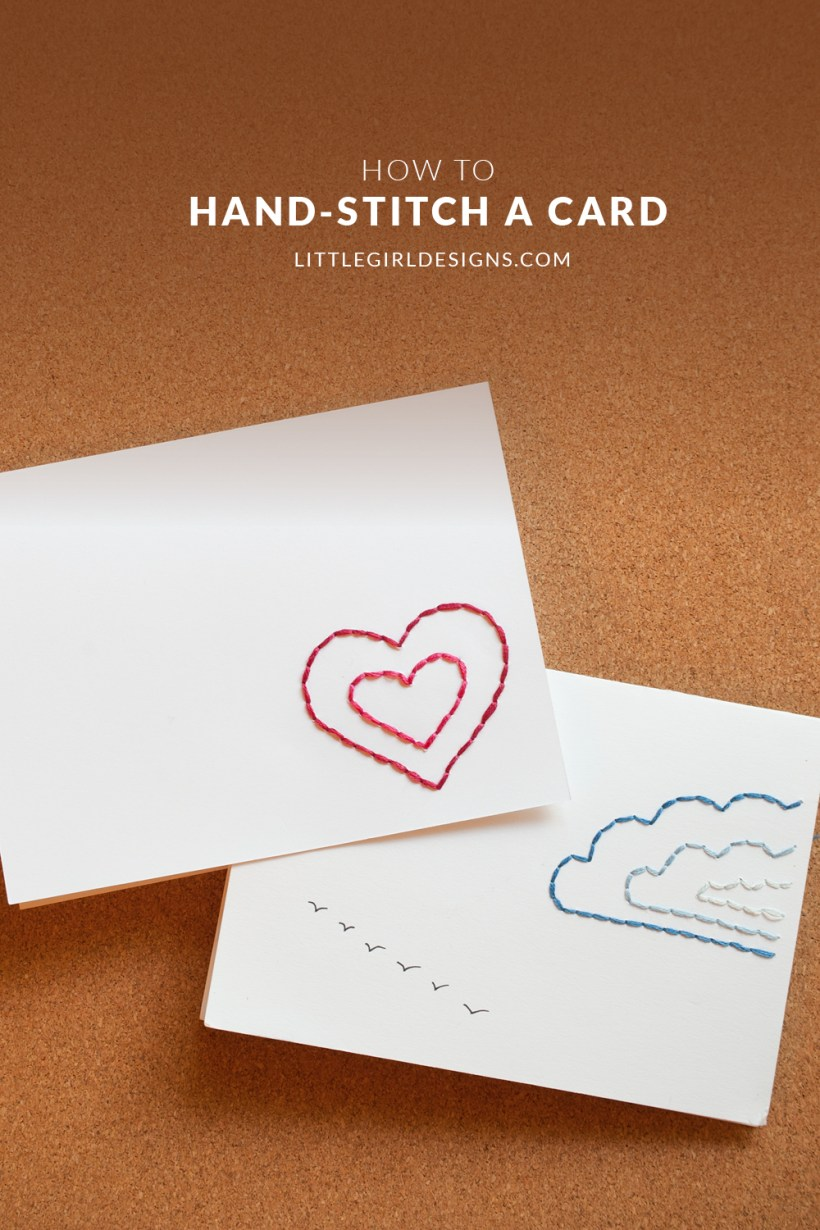 What a wonderful way to send a personal note in the mail! These DIY hand stitched cards kick it up a little.