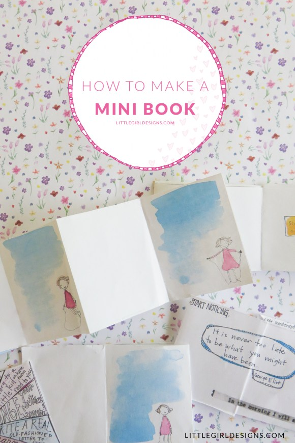 How To Make A Mini Book Out Of One Sheet Of Paper Jennie Moraitis