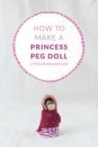 How to Make a Princess Peg Doll