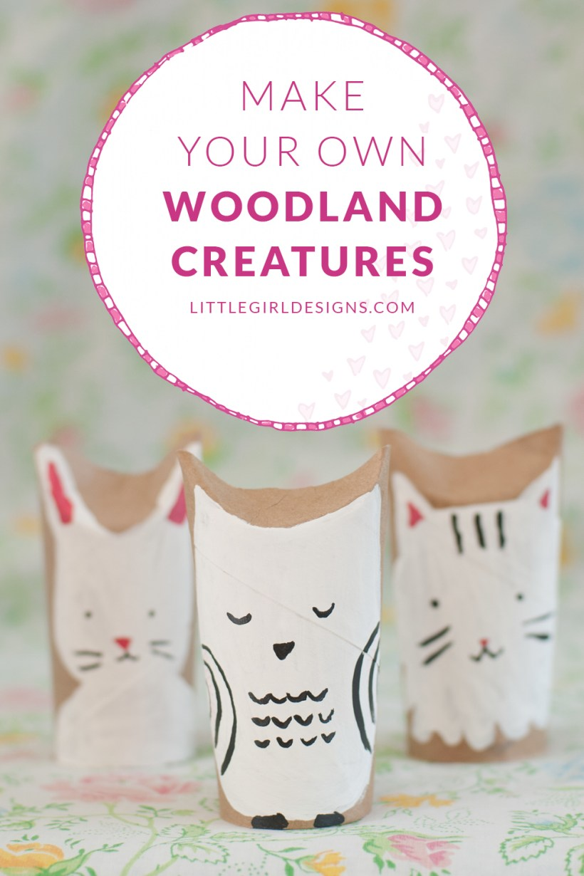 Woodland creatures toilet paper roll craft crafts for kids make your own woodland creatures out of toilet paper rolls a great craft for kids jeuxipadfo Image collections