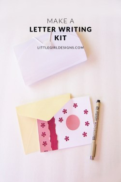 How to make a portable letter writing kit - This kit is just what you need if you'd like to write more letters! Ellen Russel from createinthechaos.com shares her letter writing kit and how you can make one too! @littlegirldesigns.com