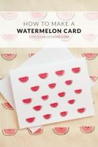 Make a Watermelon Note Card