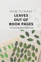 How to Make Book Page Leaves