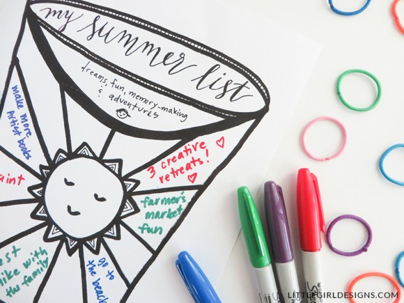 Make a Summer Bucket List with this free printable! What do YOU want to do this summer? (Also some tips on making this list FUN and not another to-do list!)