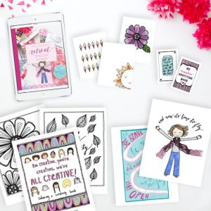 The Creative Retreat Digital Only Package: eBook, Cards, Mini-books, Printables, Coloring Book, and Podcasts