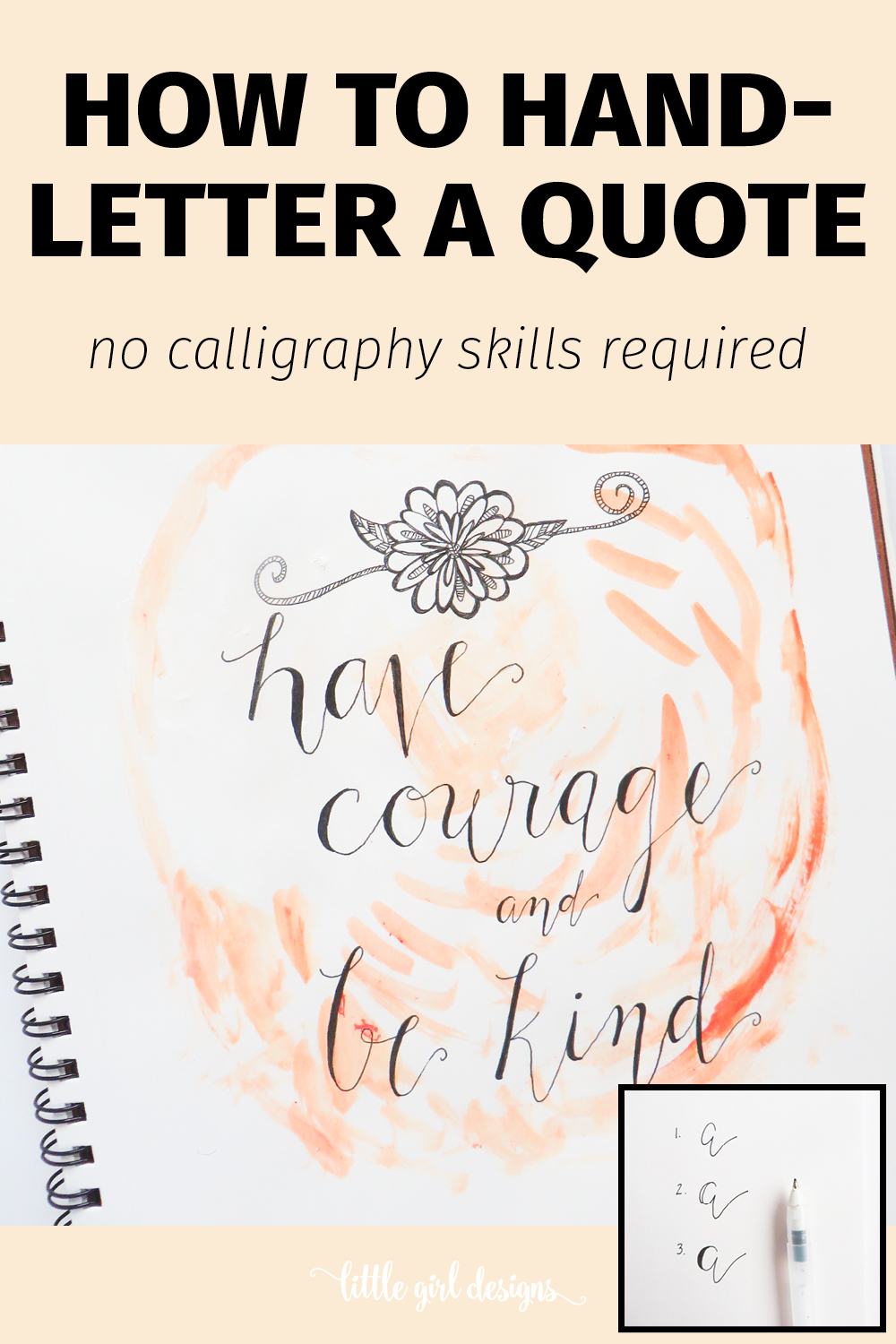 How To Faux Hand Letter A Quote Little Girl Designs